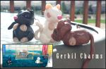 Clay Gerbil Cage Charms by FrozenDreamer