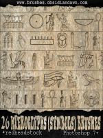 Hieroglyph Symbols Brushes by Project-GimpBC