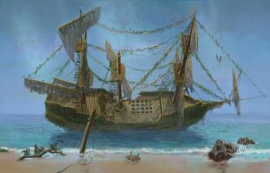 Wreked ship of smugglers by Firsin