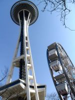 Space needle and ferris wheel by MegaPIG1o1