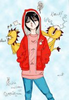 rukia with kon by spiritual2011s