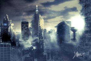 destroyed city by i-gawa