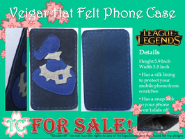 Veigar Hat Felt Phone Case by TealCreations