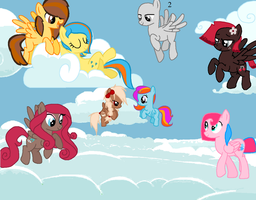 Me an Mah Pegasi Friends Collab CLOSED by Rain-Approves