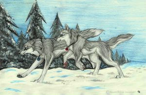 Deep snow by RedSoulWolf13
