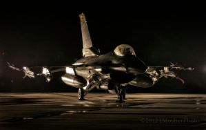 F-16 Stormy Night by jdmimages