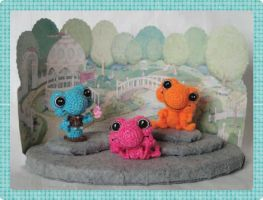 Sinker Baby Frogs - PeggyTOADS Down Under!! by peggytoes
