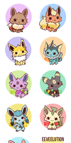 Eeveelution Charms Preorder by whispwill