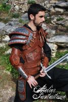 Dragon hunter Dovahkiin leather armor by AtelierFantastique