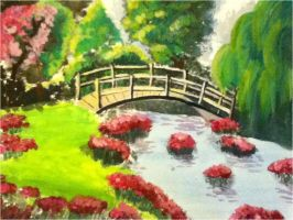 Landscape painting by mangafox23