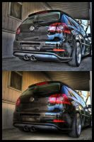 VW Rabbit HDR by andiesavestheday