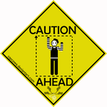 Caution land mime sign by caycowa