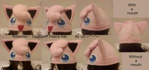 Jigglypuff Fleece Hat by LiliNeko