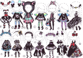 CLOSED-Dark goth outfits by Guppie-Adopts