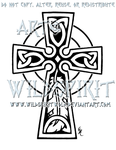 Celtic Cross And Feather Design by WildSpiritWolf