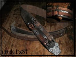 uruki heavy belt by Malach-ha-Mavet