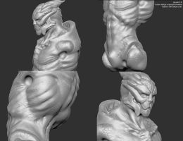 Turian zbrush 2 detail by batchix