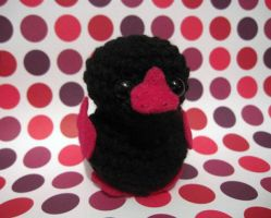 Amigurumi Black And Pink Ducky by AmiTownCreatures