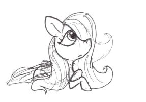 Fluttershy practice by Ghost-Peacock