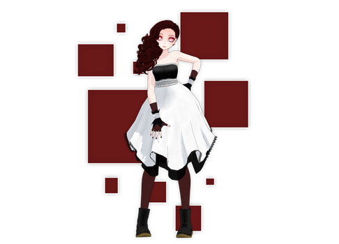 [MMD] Red [New OC] by MinuzNegative