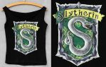 PT - Slytherin Crest by threevoices