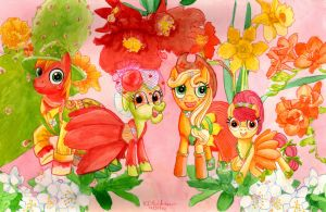 MLP Flowers of Harmony -The Apple Family by kelseyleah