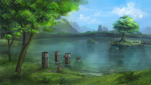 Lake Hylia by pmeester