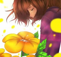 Undertale: Unsaved: Flowey and Frisk by CamiIIe