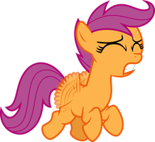 Scootaloo Gonna Fly Now by Jeatz-Axl