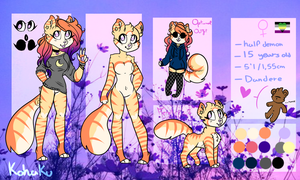 Kohaku Reference Sheet by Kamaochii