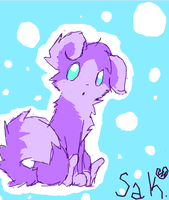Purple doggy by Solthewolf