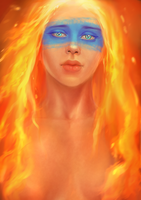 Fire Girl by canitiem