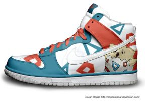 Togepi Nike Dunks by Houggiebear