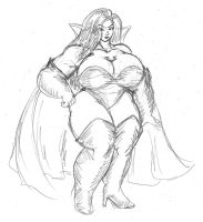 Plump Dark Queen by dwarfpriest