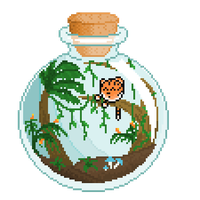 widdle tiger in a jar :3 by fursonaloverXD