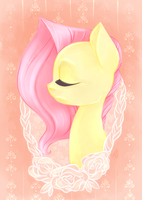 Simple Fluttershy Portrait by grandifloru