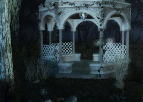 Lonely Gazebo Background by Lil-Mz