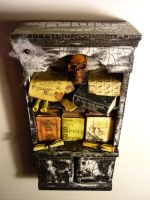 Witches bookcase ready by SoDarkSoCute