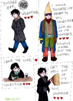 Black Books Valentines by pedal