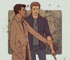 Dean and Castiel by Velven