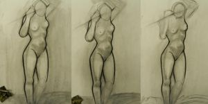 Figure Drawing Class 4 by AlyssaKing