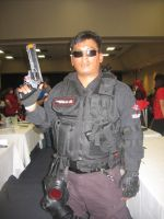 Umbrella Security Service with magnum by Demon-Lord-Cosplay