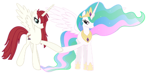 Celestia + Lauren Faust by Radiant--Eclipse