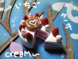 Strawberrie Cream Cake xD by PuniTotoro