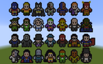 Minecraft 8-bit Alphabets: DC Comics by DeadplinkOfTheSand