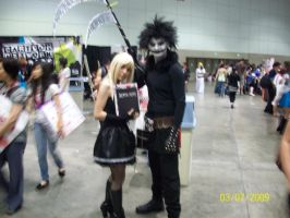 Misa and Ryuk cosplay by foxanime101