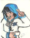 lawliet in blue by miharuyume