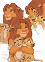 Simba and his babehs by Xx-JungleBeatz-xX