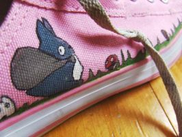 More Totoro Shoes by morningpeasant