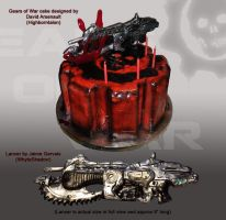 Gears of War Cake by DavidArsenault